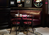 Leather Cafe Bench Seating , Custom Round Banquette Seating For Five Start Hotel