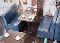 Modern Plain Back Leather Booth Seating Fast Food Bespoke Restaurant Furniture