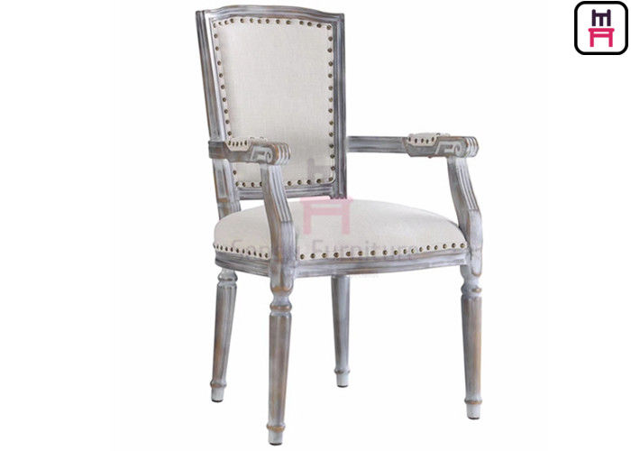 Aluminum Frame High Back Leather And Metal Dining Chairs For Event / Home