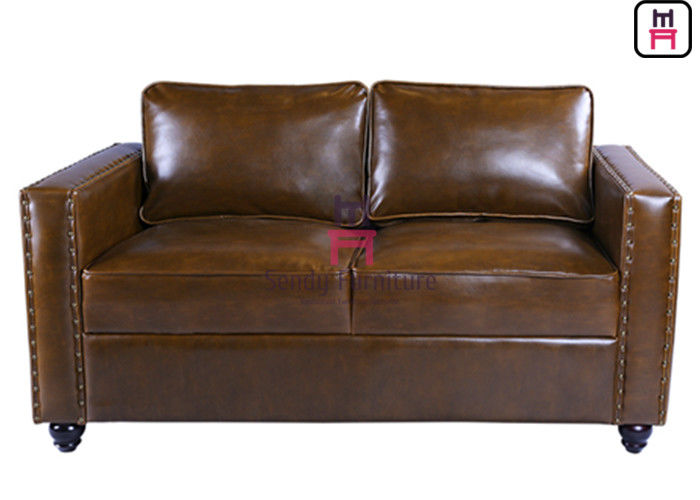 Arm Rest Durable Leather Commercial Booth Seating American Style Contracted Design