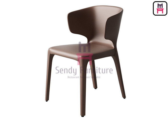 Contemporary Style Leather Dining Chairs With Brown / Black / Gray Color
