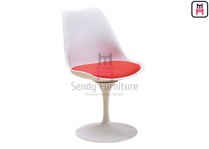 360 Degree Swivel Red Seat, Side Chair, Tulip Dining Chair Made by Fiberglass