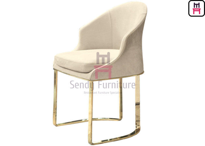 No Foldable Hotel Restaurant Chairs Stainless Steel Frame Comfortable Modern Style